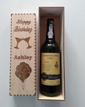 wooden wine gift box,personalised,engraved wine box birthday wedding anniversary
